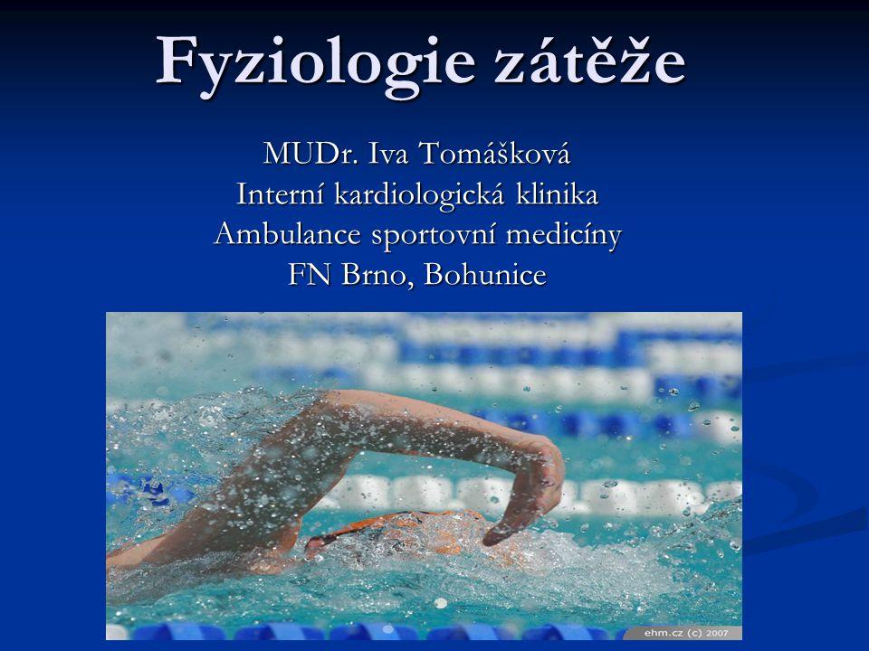 Fyziologie zátěže MUDr. Iva Tomášková Interní kardiologická klinika