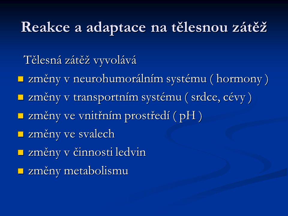 Reakce a adaptace na tělesnou zátěž