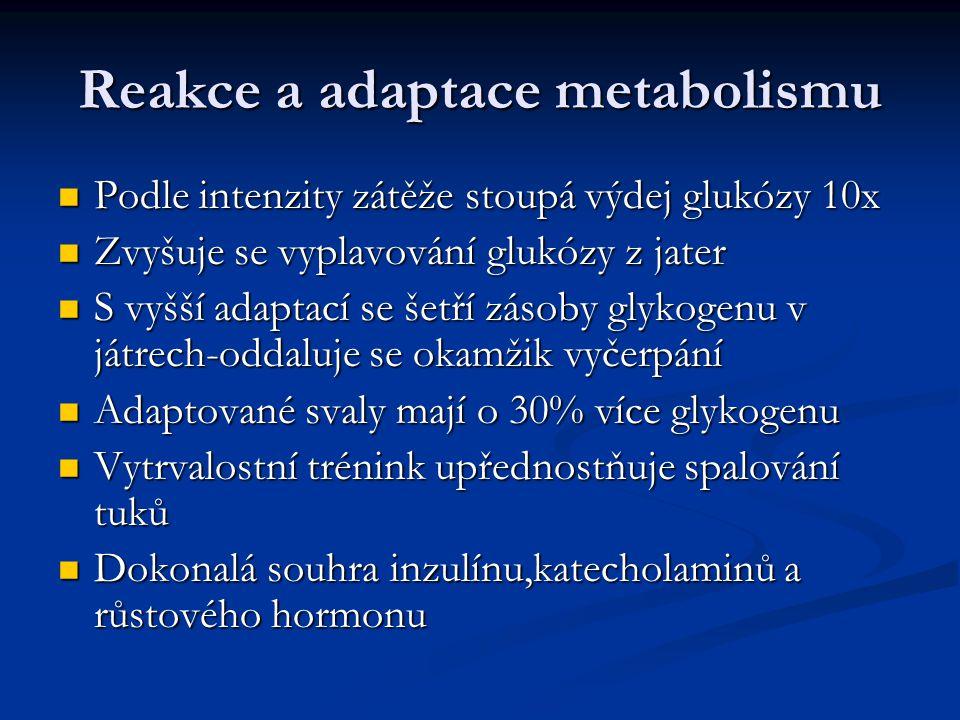 Reakce a adaptace metabolismu
