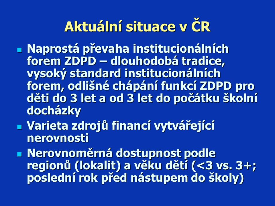 Aktuální situace v ČR