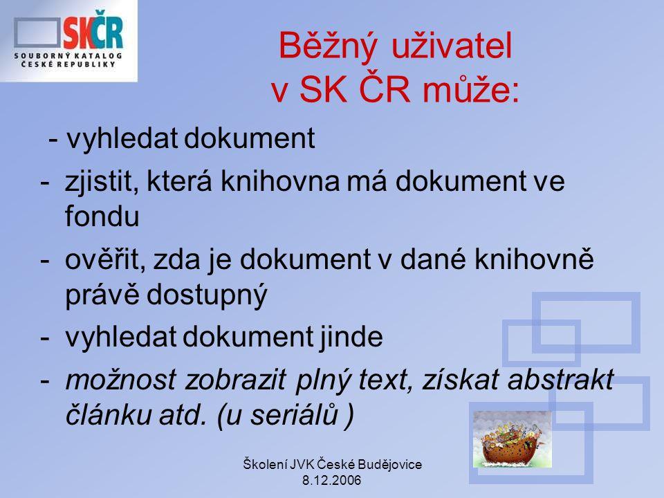 Běžný uživatel v SK ČR může: