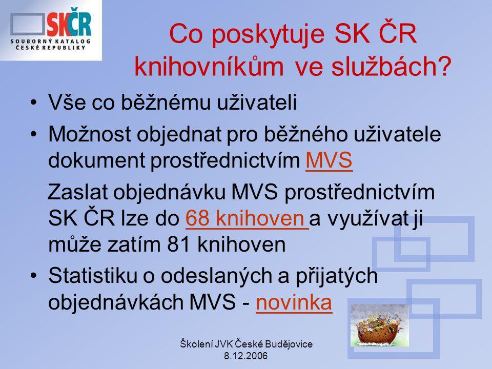 Co poskytuje SK ČR knihovníkům ve službách