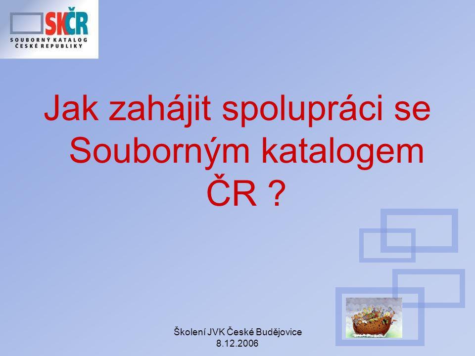 Jak zahájit spolupráci se Souborným katalogem ČR