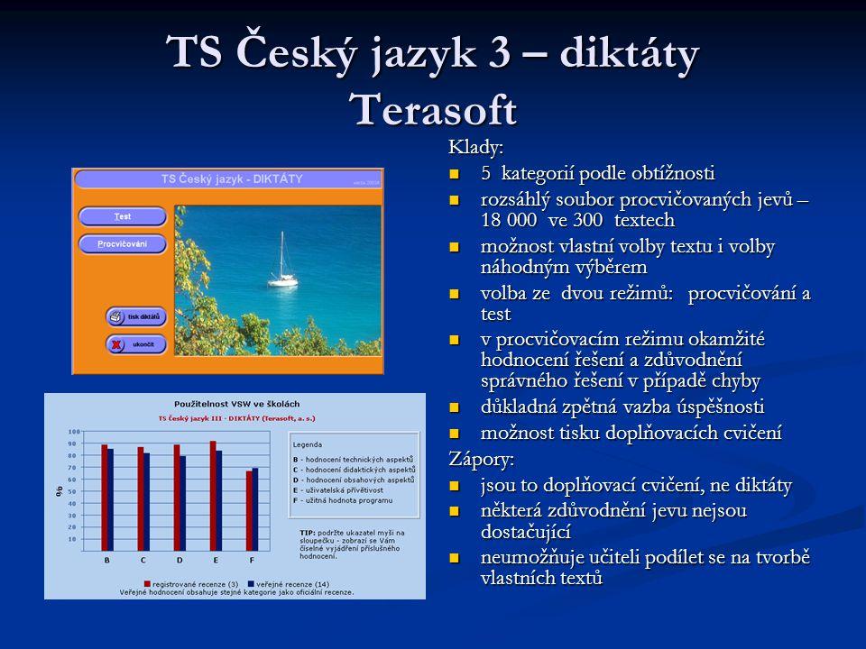 TS Český jazyk 3 – diktáty Terasoft