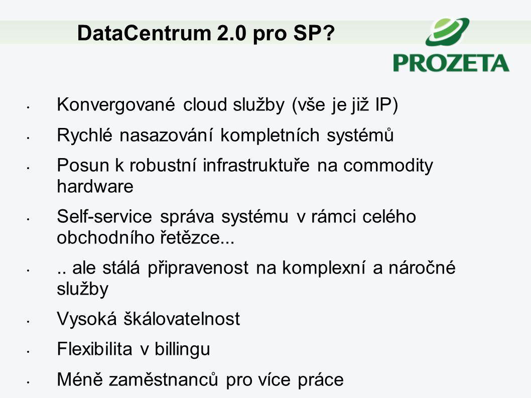 DataCentrum 2.0 pro SP Konvergované cloud služby (vše je již IP)