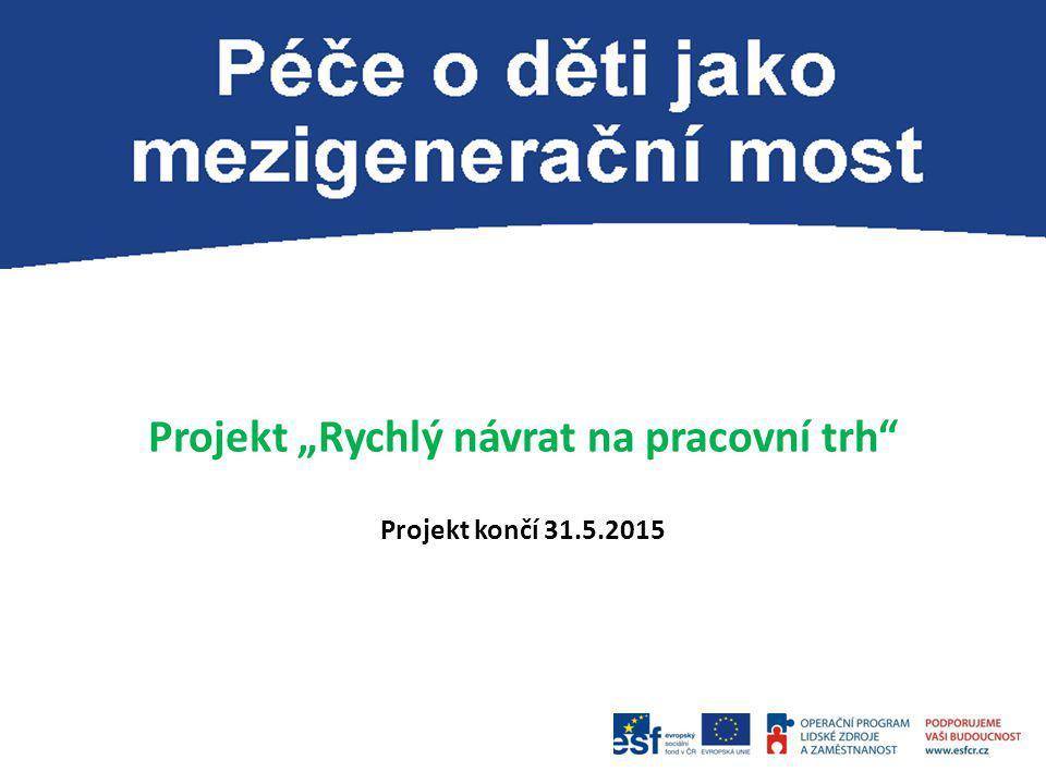 """Projekt """"Rychlý návrat na pracovní trh"""