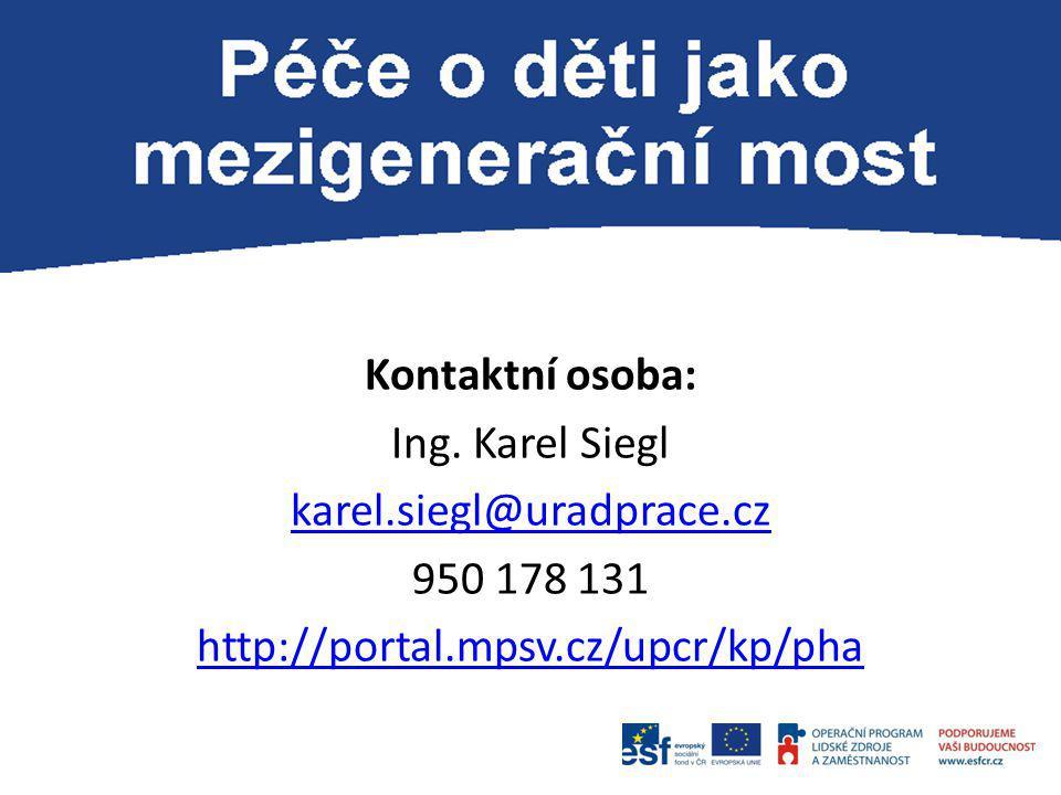 Kontaktní osoba: Ing. Karel Siegl karel. siegl@uradprace