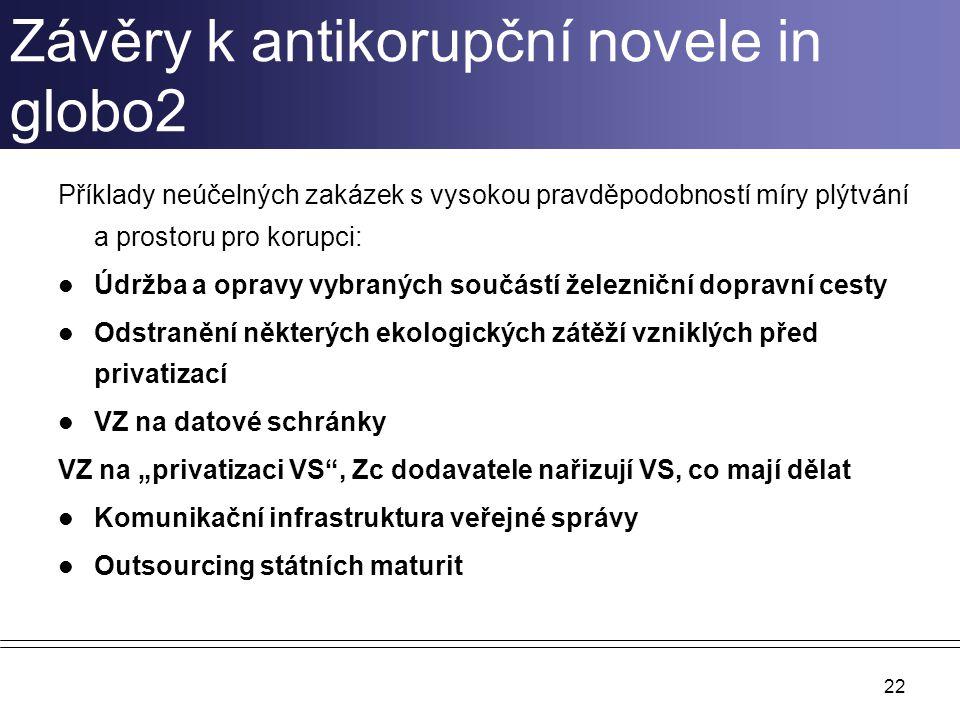 Závěry k antikorupční novele in globo2