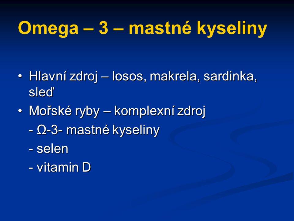 Omega – 3 – mastné kyseliny