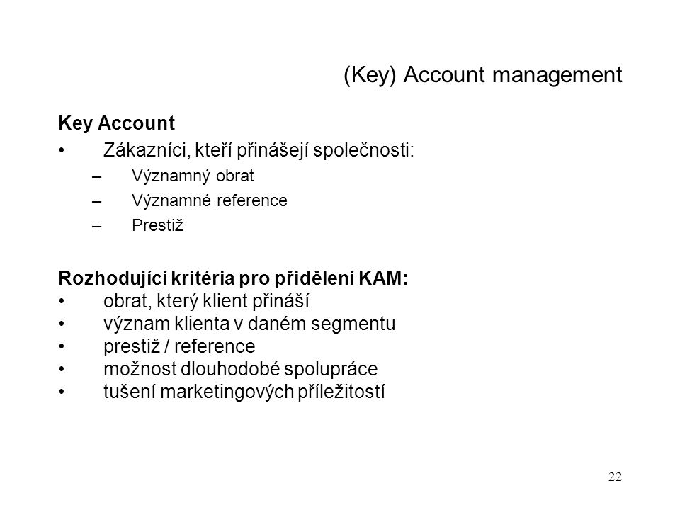 (Key) Account management