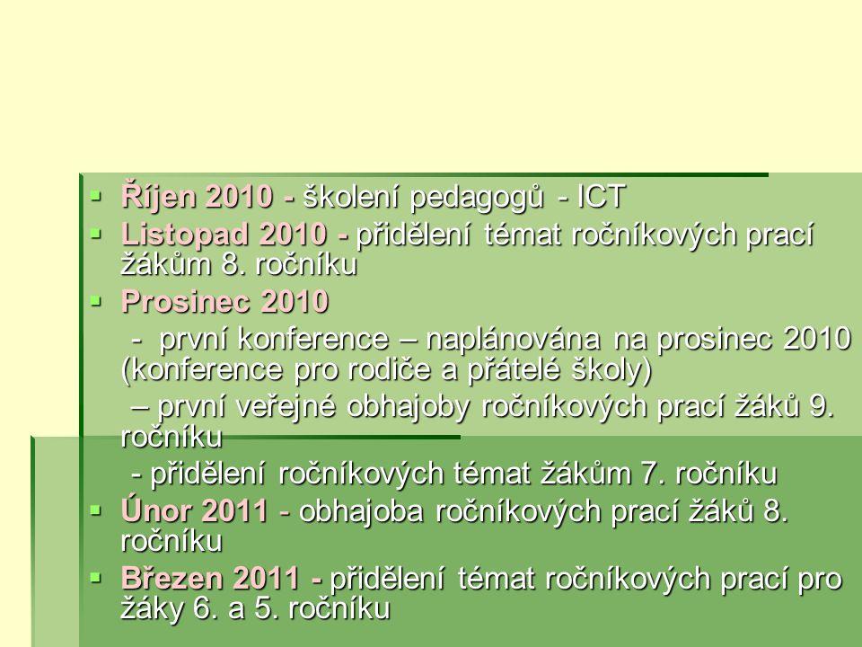 Říjen 2010 - školení pedagogů - ICT