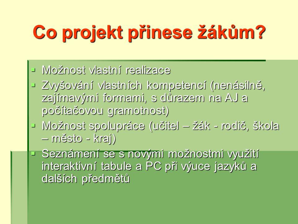 Co projekt přinese žákům