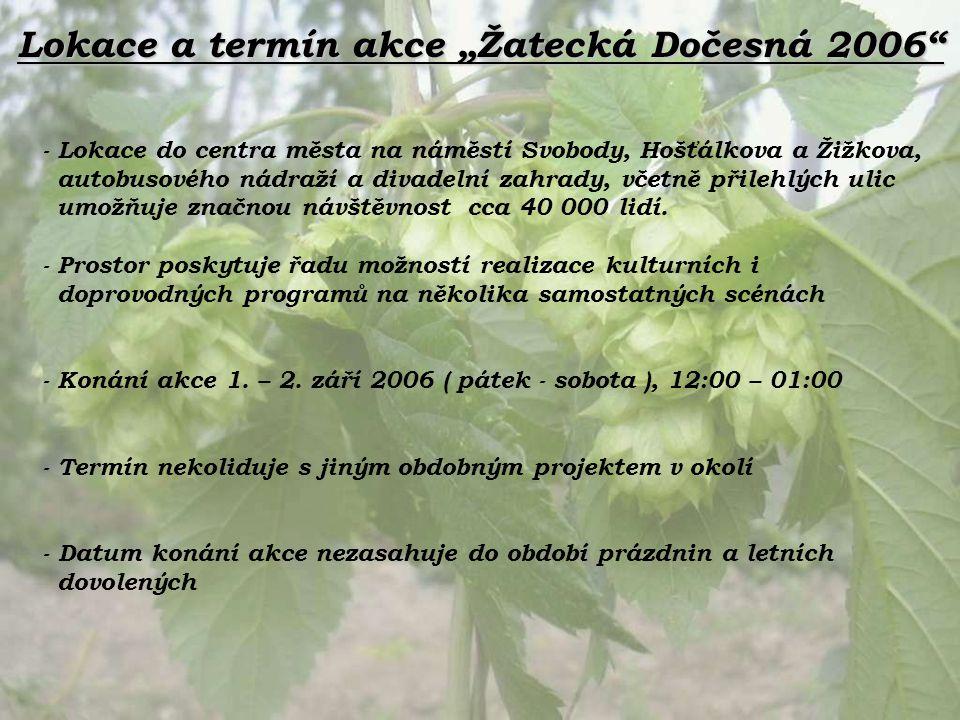 "Lokace a termín akce ""Žatecká Dočesná 2006"