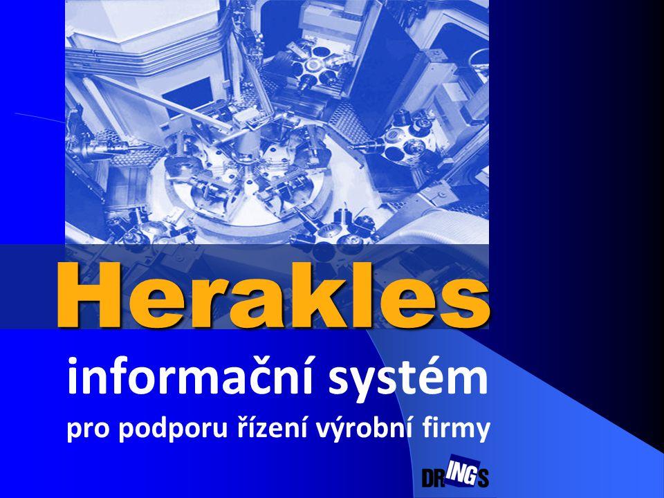 informační systém pro podporu řízení výrobní firmy