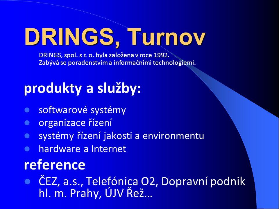 DRINGS, Turnov produkty a služby: reference