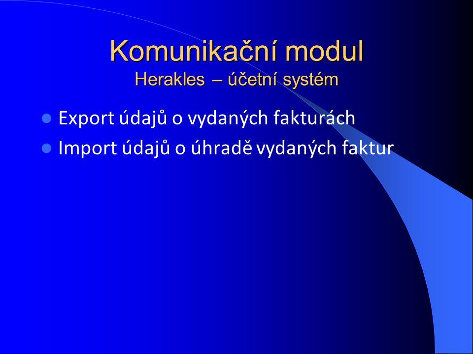 Komunikační modul Herakles – účetní systém