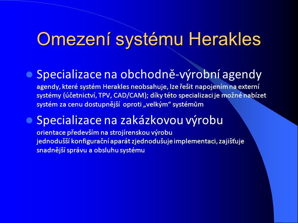 Omezení systému Herakles