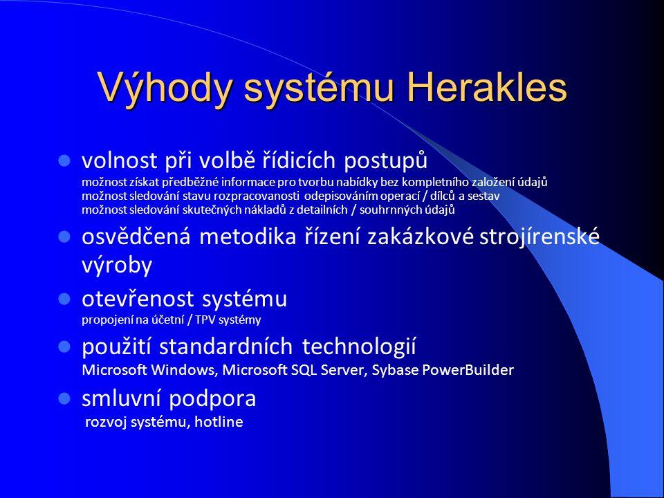 Výhody systému Herakles
