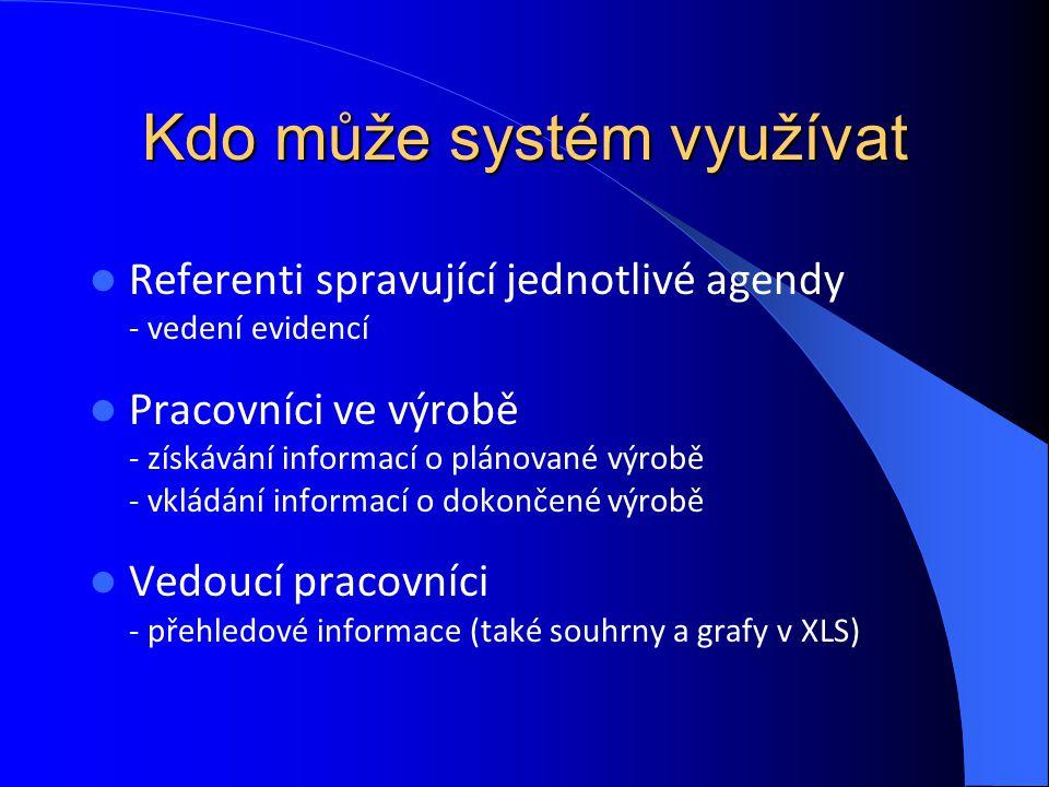 Kdo může systém využívat