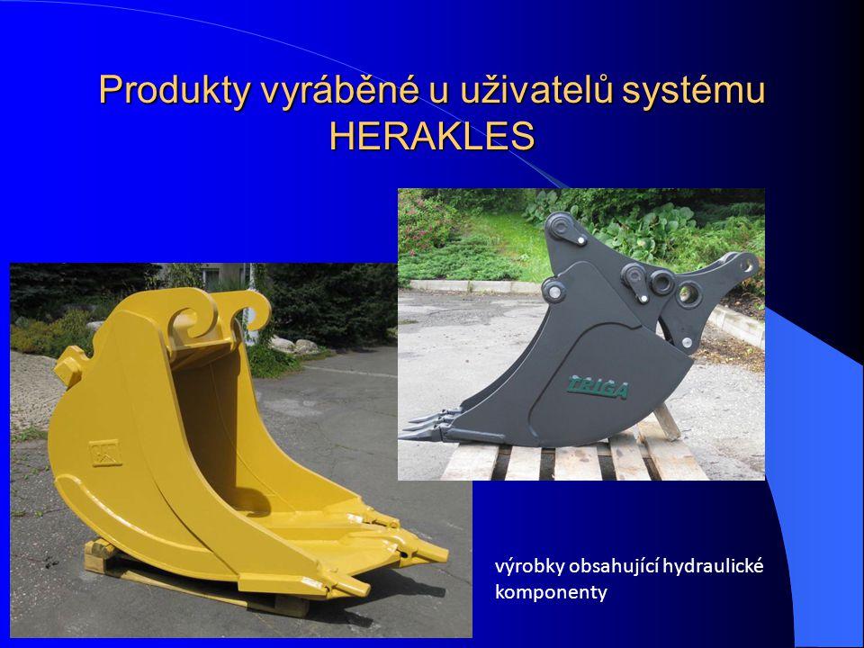 Produkty vyráběné u uživatelů systému HERAKLES