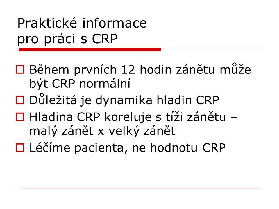 Praktické informace pro práci s CRP