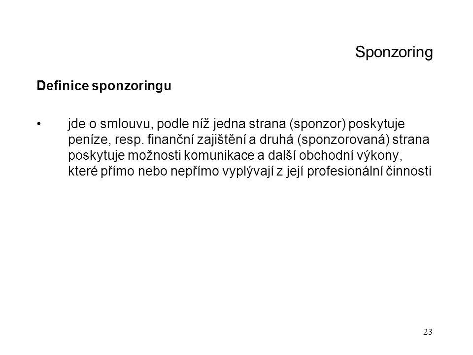 Sponzoring Definice sponzoringu