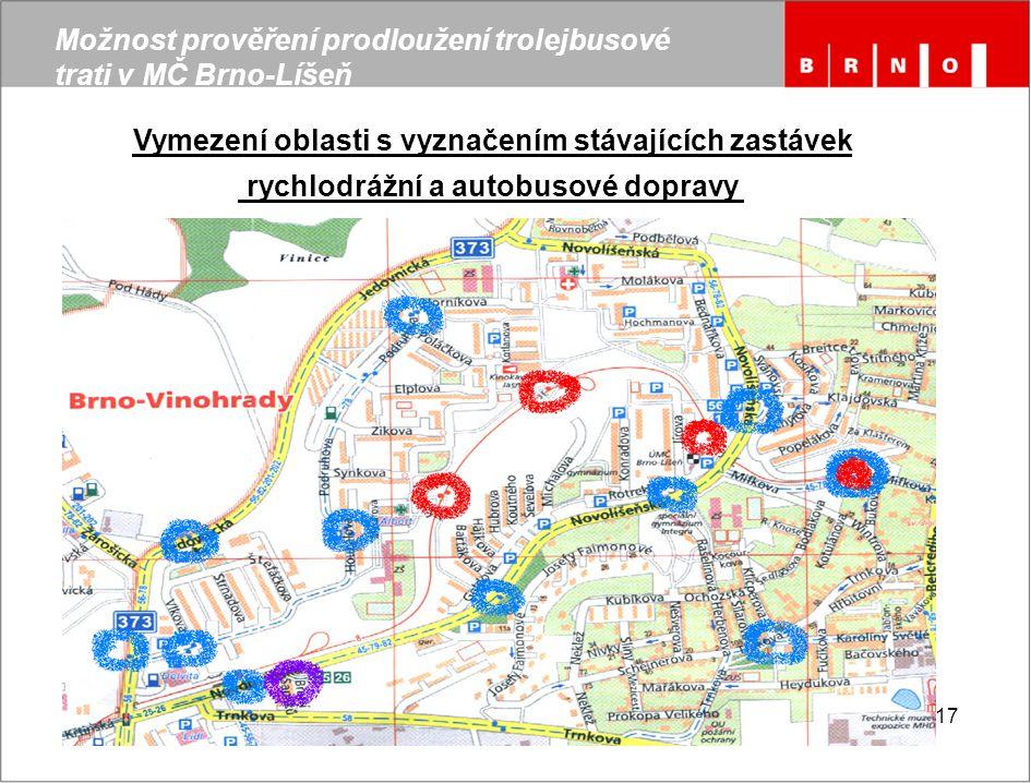 Možnost prověření prodloužení trolejbusové trati v MČ Brno-Líšeň