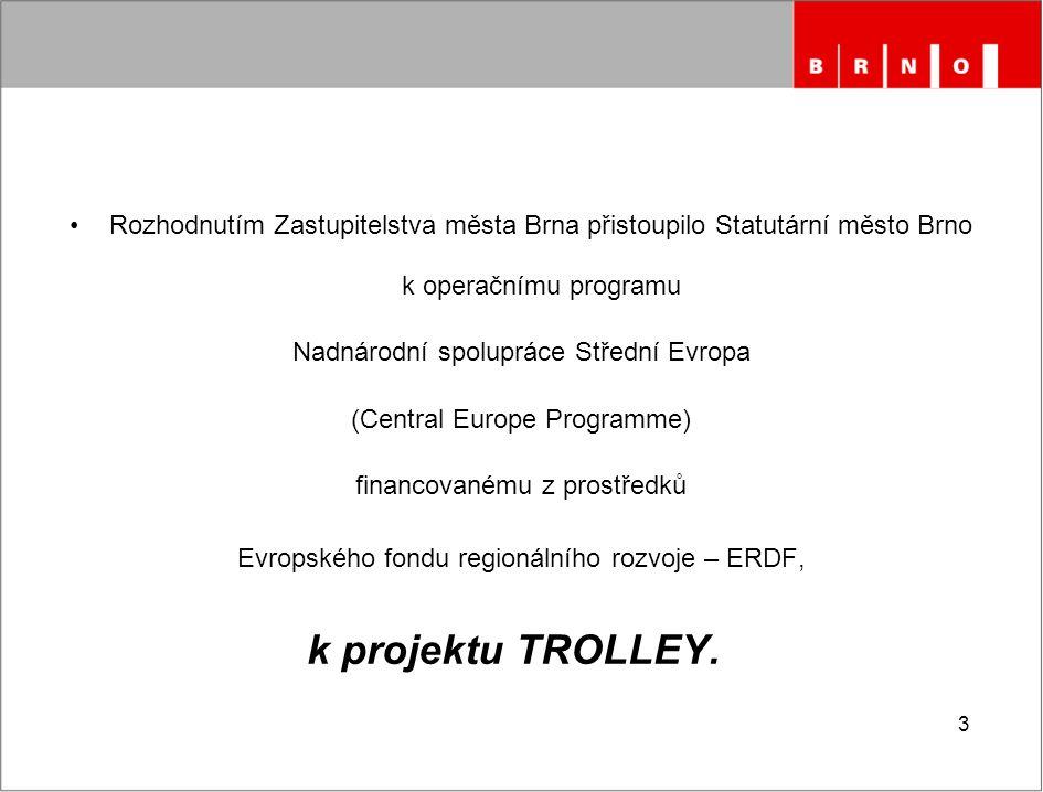 Rozhodnutím Zastupitelstva města Brna přistoupilo Statutární město Brno k operačnímu programu