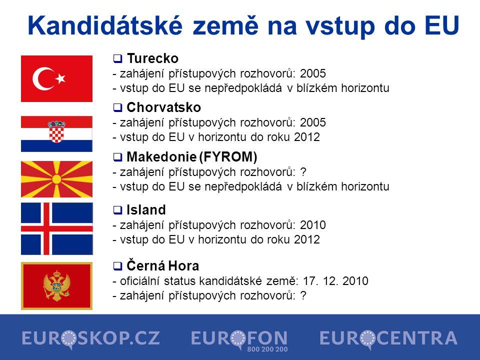 Kandidátské země na vstup do EU