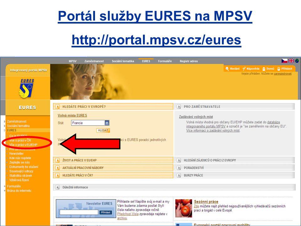 Portál služby EURES na MPSV
