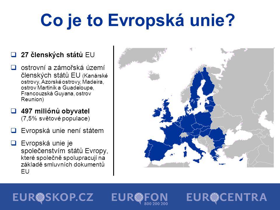 Co je to Evropská unie 27 členských států EU