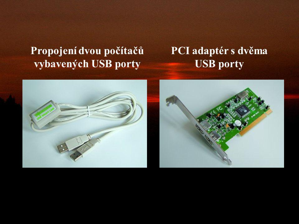 Propojení dvou počítačů vybavených USB porty