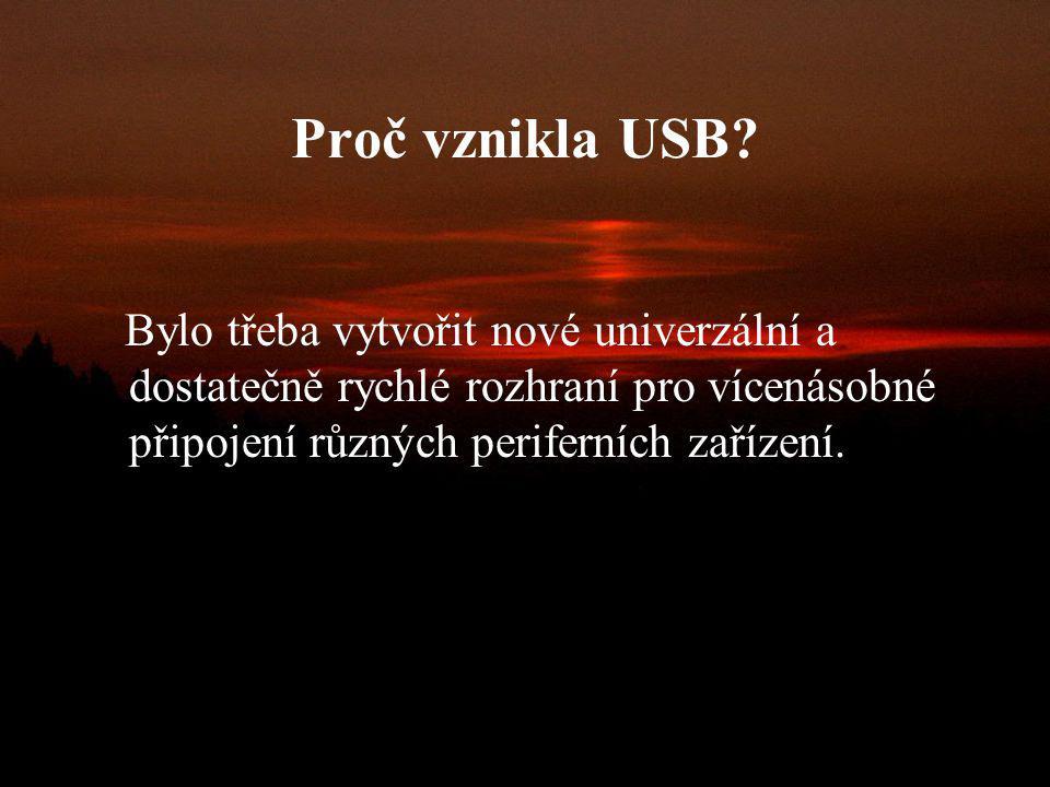 Proč vznikla USB.