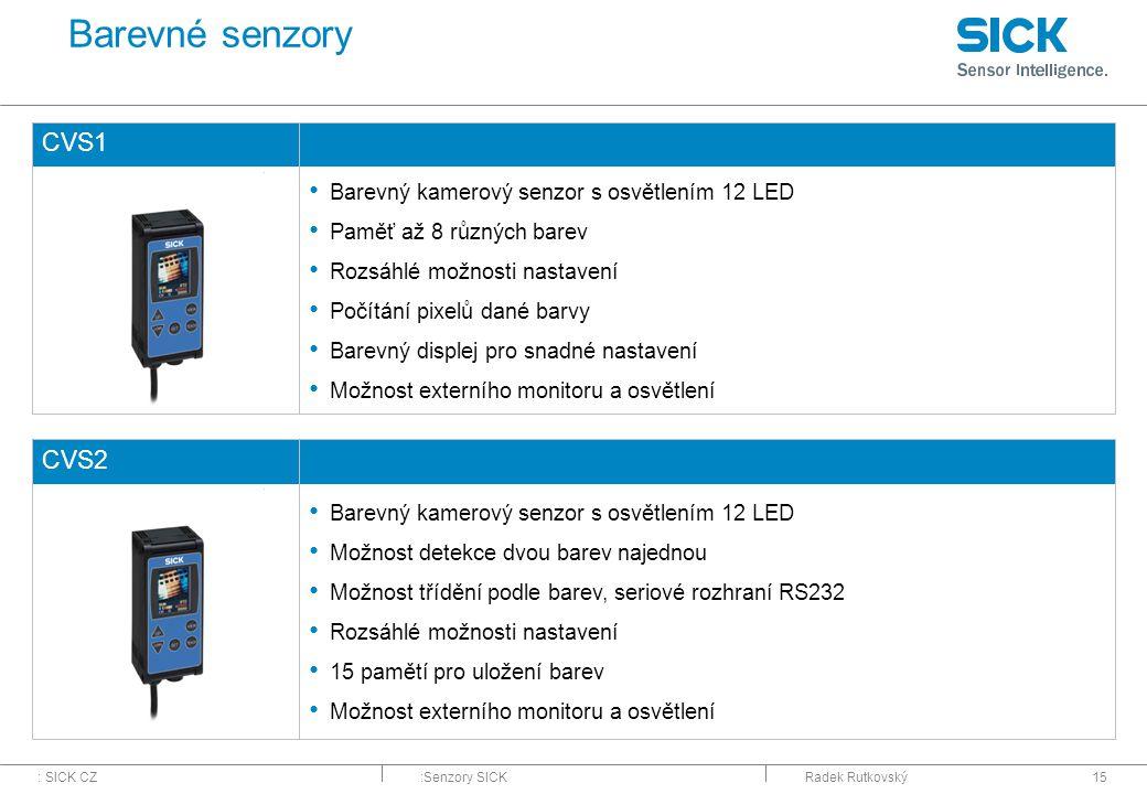 Barevné senzory CVS1 CVS2 Barevný kamerový senzor s osvětlením 12 LED
