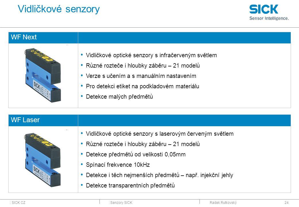 Vidličkové senzory WF Next WF Laser