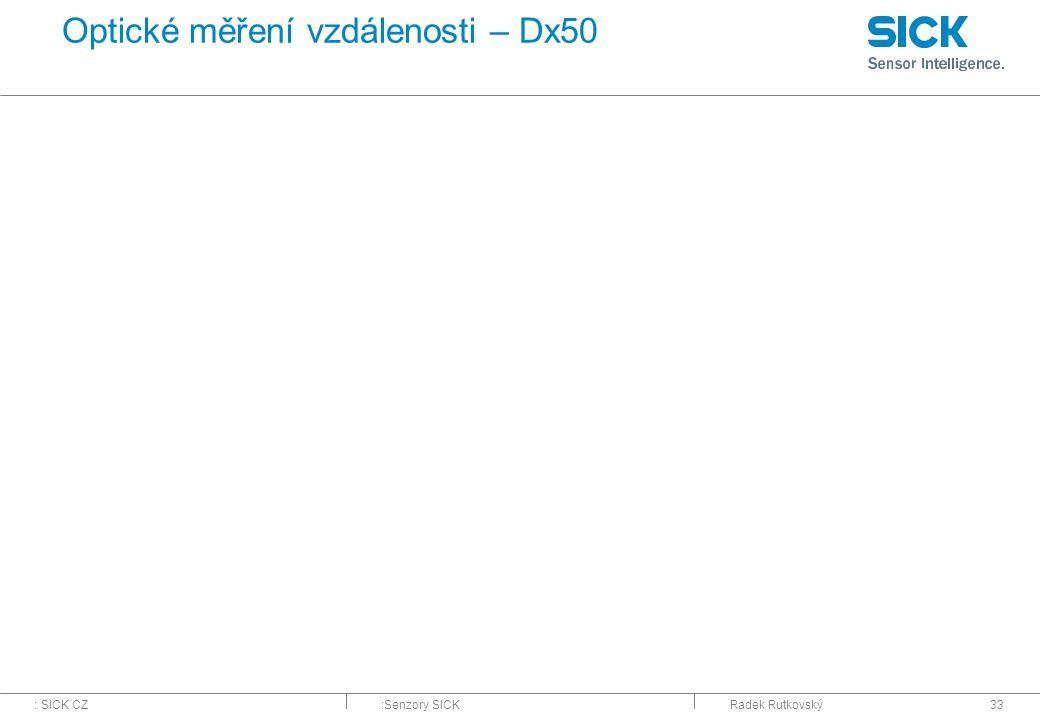 Optické měření vzdálenosti – Dx50