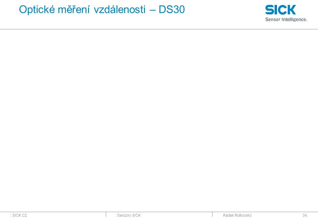 Optické měření vzdálenosti – DS30