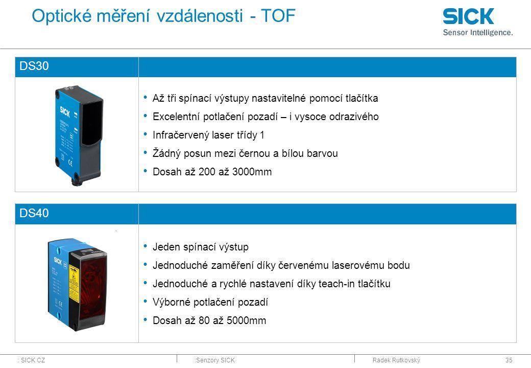 Optické měření vzdálenosti - TOF