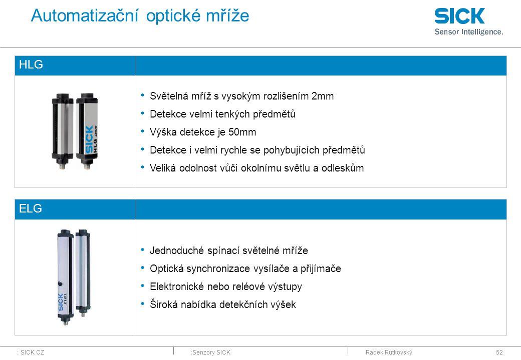 Automatizační optické mříže