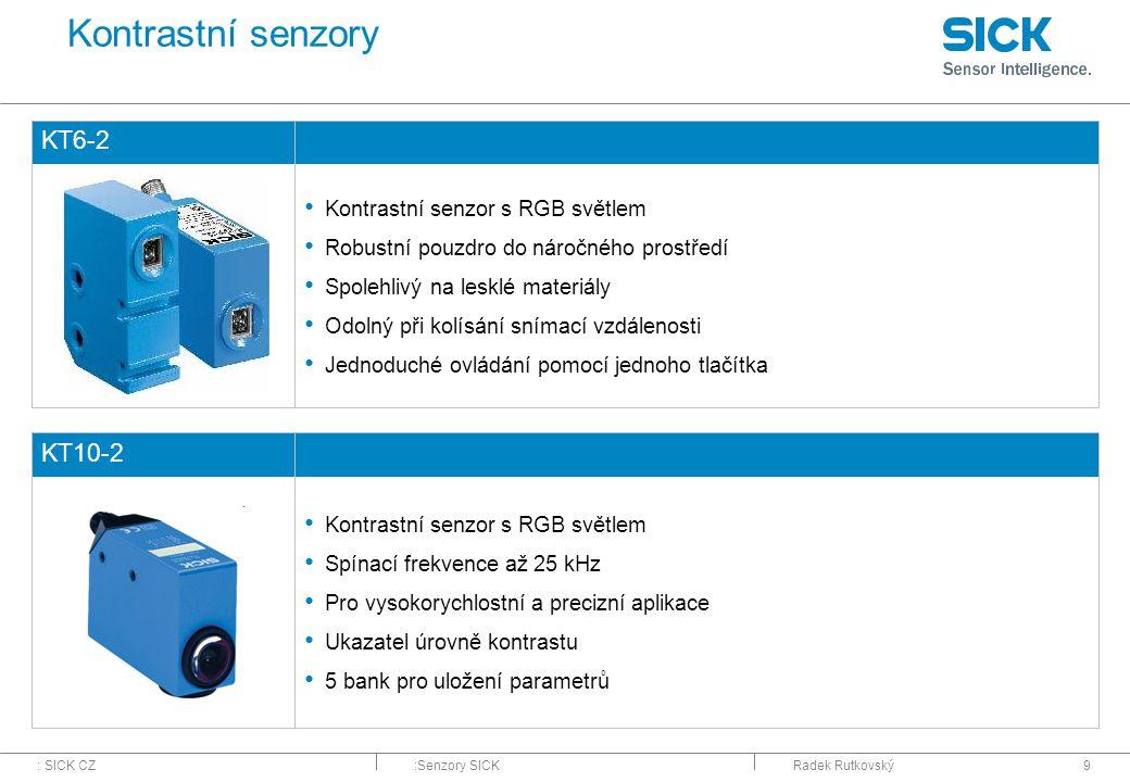 Kontrastní senzory KT6-2 KT10-2 Kontrastní senzor s RGB světlem