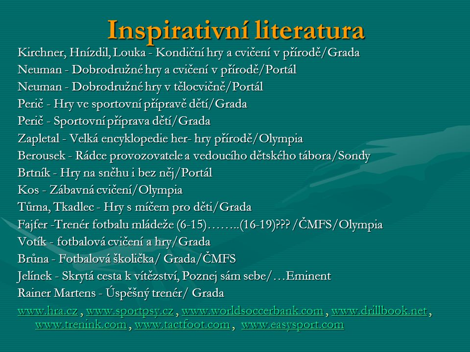 Inspirativní literatura