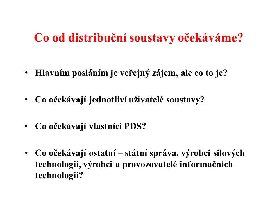 Co od distribuční soustavy očekáváme