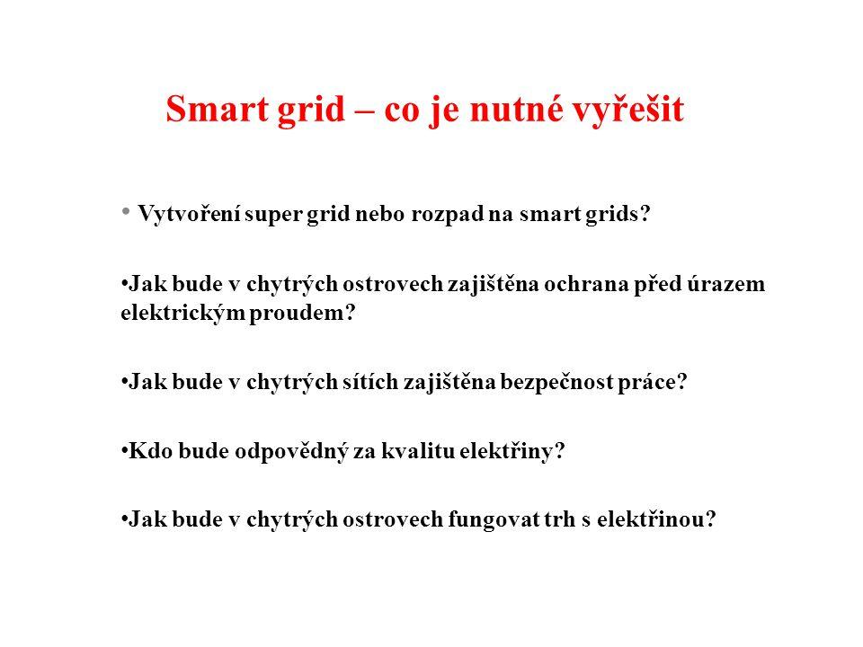 Smart grid – co je nutné vyřešit