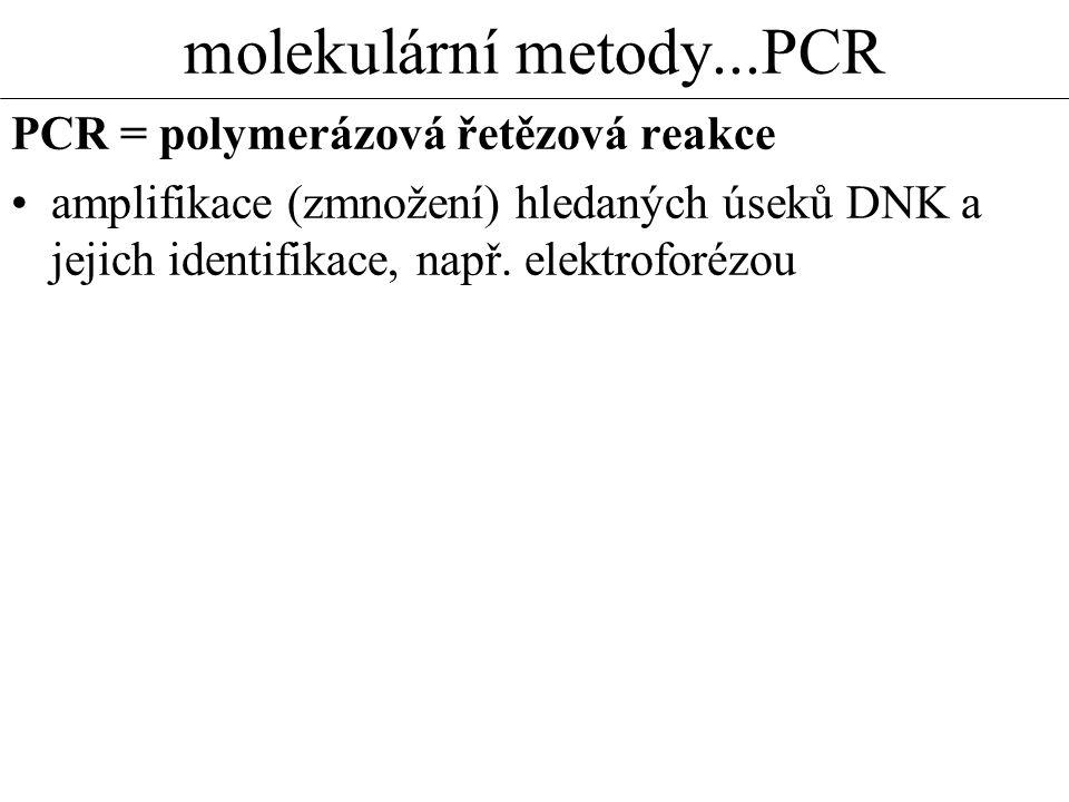 molekulární metody...PCR