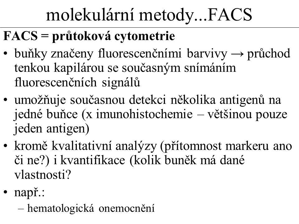 molekulární metody...FACS