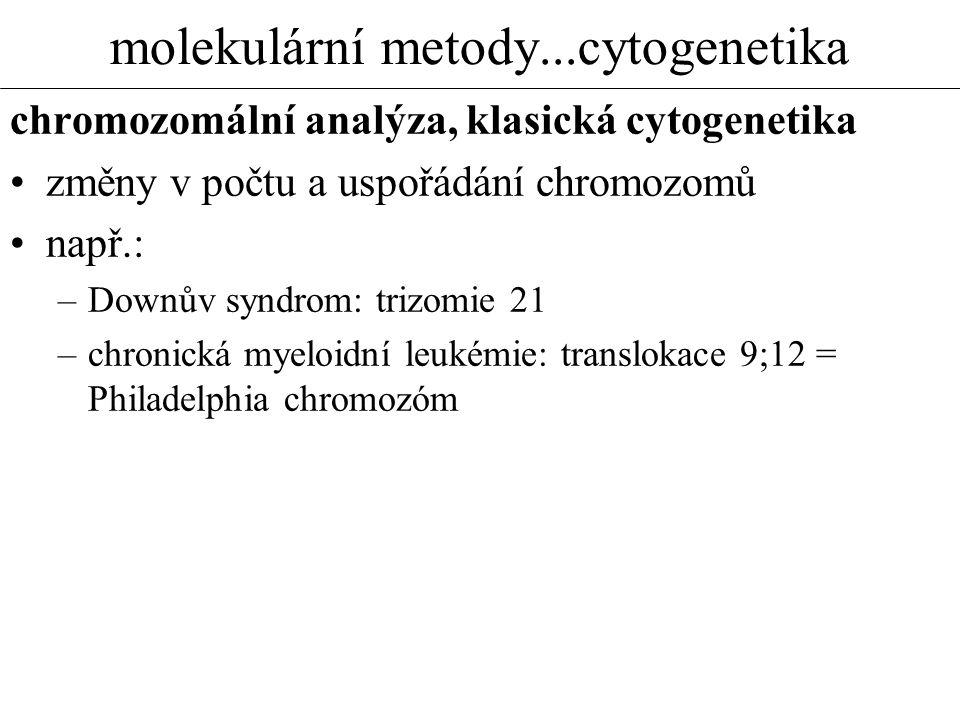 molekulární metody...cytogenetika