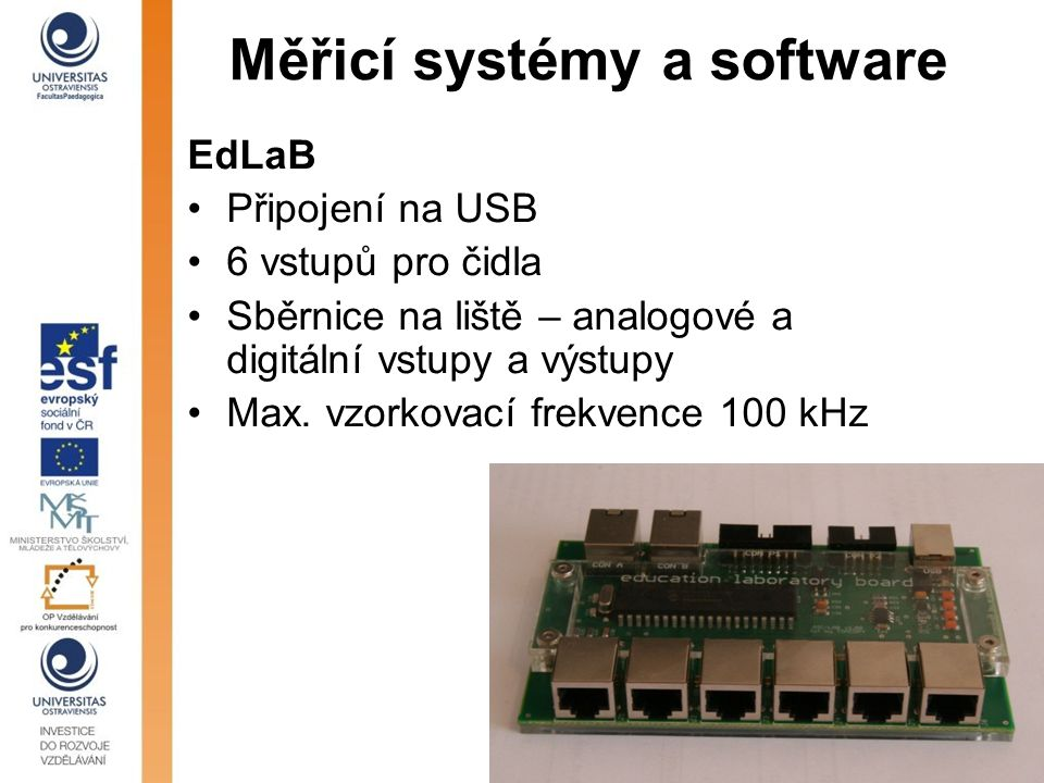 Měřicí systémy a software