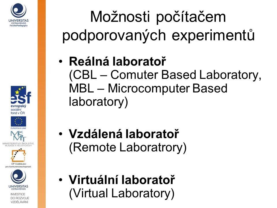 Možnosti počítačem podporovaných experimentů