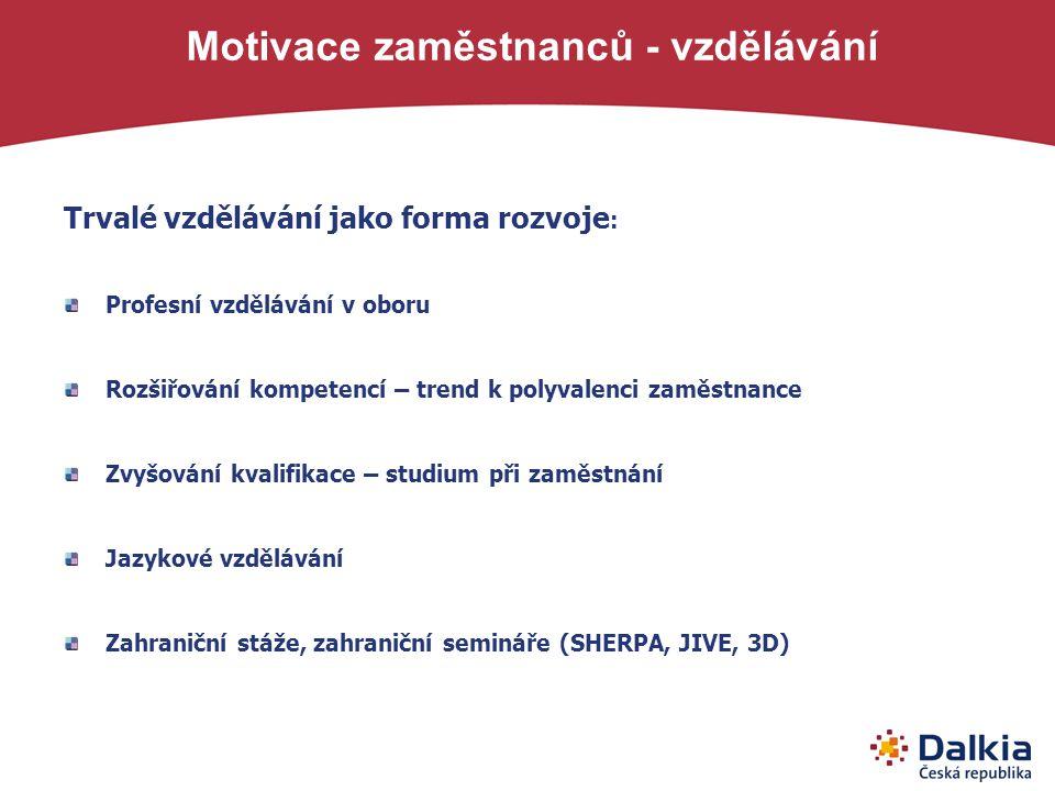 Motivace zaměstnanců - vzdělávání