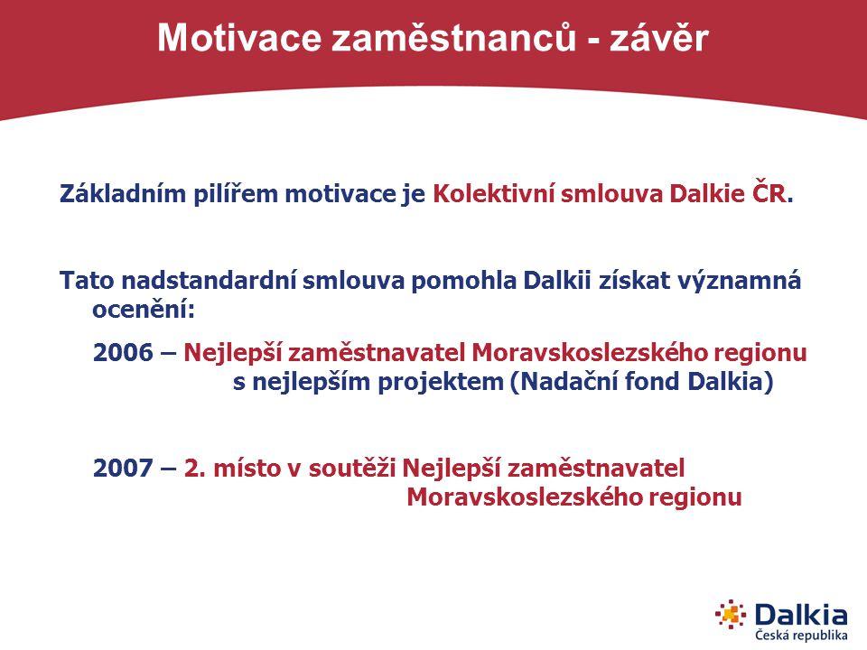 Motivace zaměstnanců - závěr